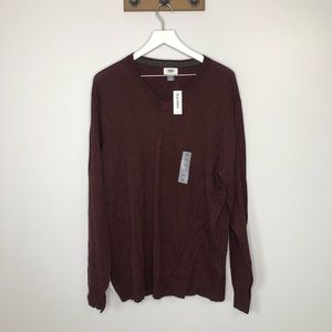 Old Navy NWT Men's Maroon Long Sleeve Sweater